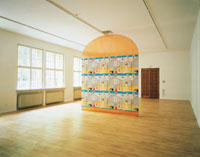 The Threshold, 1997, site specific installation at the Lenbachhaus, Munich
