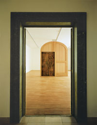 The Threshold 1997, site specific installation at the Lenbachhaus, Munich